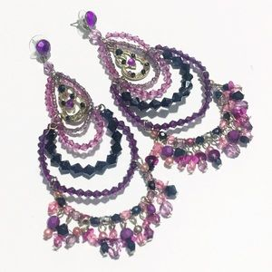 [Aldo]Beaded Chandelier Statement Earrings